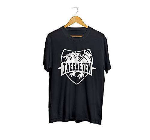 Camiseta Camisa Guerra dos Tronos Flag 02 Masculino Preto Tamanho:G