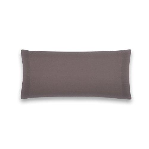 Sancarlos - Funda de almohada para cama, 100% Algodón percal, Color gris, Cama de 90 cm