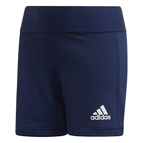 adidas Alphaskin Volleyball-Shorts für Mädchen, Mädchen, Strumpfhose, Alphaskin Volleyball 4-Inch Short Tights, Team Navy Blue/White, X-Small