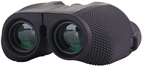 ZHAOJ High Clarity Telescope 10X25 Binoculars with Night Vision BAK4 Prism Miniature Telescope High Power Waterproof Binoculars Black