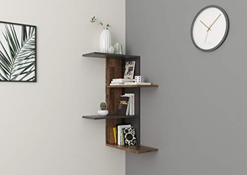 FMD furniture Scaffale angolare, truciolato, ca. 45 x 45 x 75 cm