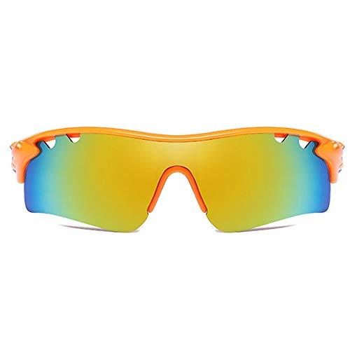 LCSD Gafas de sol hombre Material PC polarizadas Deportes al aire libre Equitación UV400 Gafas de sol blanco/naranja marco amarillo verde lente tenden...