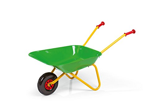 ROLLY TOYS 271900 - Carretilla de Metal, Color Amarillo/Verde
