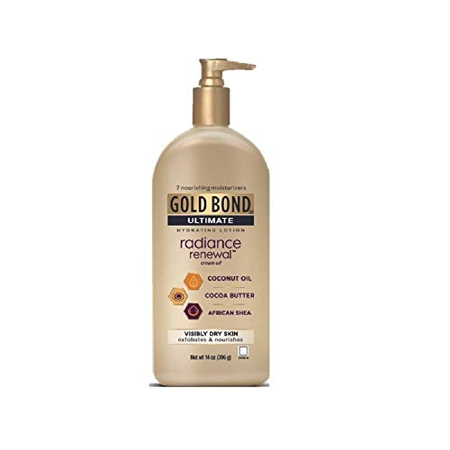 Gold Bond Ultimate Radiance Renewal 14 Ounce Lotion with Coconut Oil Shea Butter Cocoa Butter