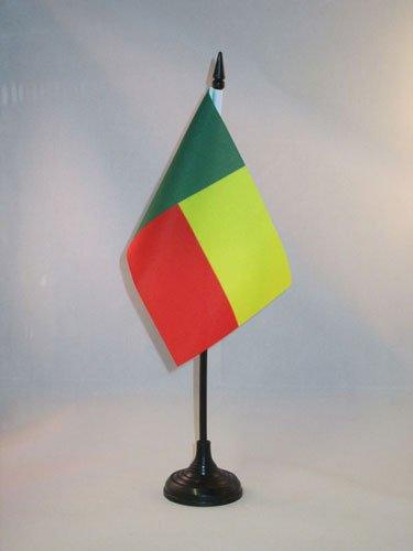 AZ FLAG Drapeau de Table Bénin 15x10cm - Petit Drapeaux DE Bureau béninois 10 x 15 cm