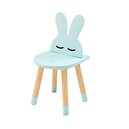 YUMEIGE Kruk Dierenkruk, Animal Seat Konijn, Oppervlak MDF+Massief Houten Benen+Hardware, Kinderkruk voor Thuis/Kleuterschool Gebruik, Hout Kruk, Kinderstoel Lading 65 kg