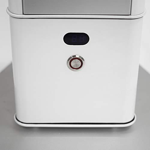 VASNER HeatTower Mini Standheizstrahler 1500 W, Infrarot Heizstrahler, Elektro Terrassenheizer mit Standfuß, Fernbedienung, IP65 Outdoor & Bad, weiß