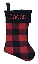 buffalo plaid christmas decor stocking