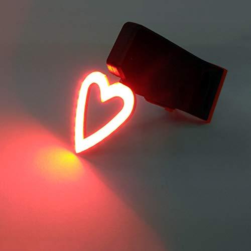 FAPROL fietsachterlicht mountainbike LED-lampen USB opladen 250 mAh lithium batterij, waterdicht creatieve vormen