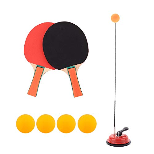 Best Review Of Table Tennis Trainer with Elastic Soft Shaft Portable Ping Pong Balls Paddles Set Toy...