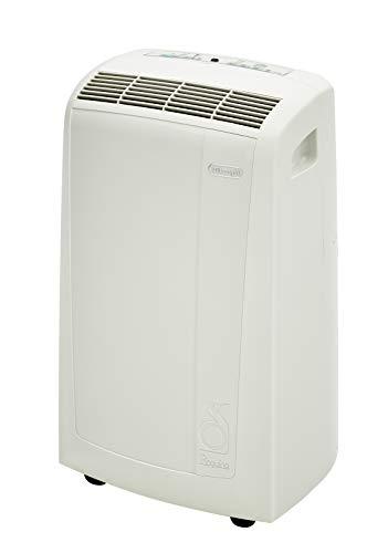 DeLonghi Pinguino 3-in-1 Portable Air Conditioner, Dehumidifier & Fan with Remote Control & Wheels, 400 sq. ft, Medium Room, White