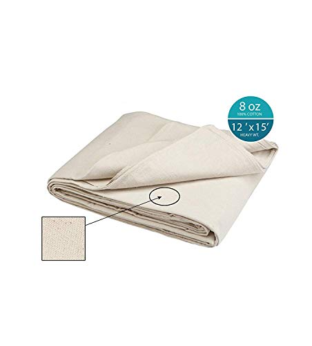 Simpli-Magic 12' x 15' 79113 Canvas Drop Cloth (Size: 12' x 15') for All Purpose Use, Ideal for Floor Protection, Curtains, DIY Projects and Furniture