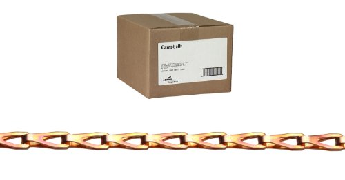 Campbell 0880844 Low Carbon Steel Sash Chain with Fixtures, Copper Glo, #8 Trade, 0.04
