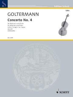 KONZERT 4 G-DUR OP 65 - arrangiert für Violoncello - Klavier [Noten / Sheetmusic] Komponist: GOLTERMANN GEORG