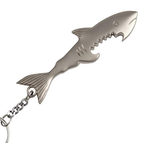 Liangery Shark Bottle Opener Shark Beer Bottle Opener Keychain Fish Bottle Opener Key Chain with Ring for Men Women