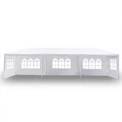 Teeker 10' x 30' Party Tent,Portable Wedding Party Tent,Patio Parties Tent BBQ Shelter Canopy Gazebo for Outdoor Events (10'x30' w/5 sidewalls)