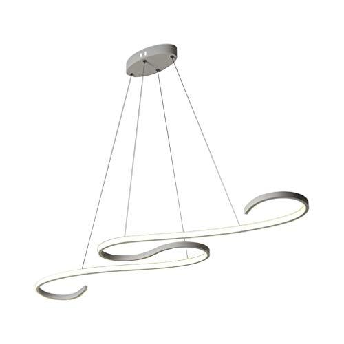 PLEASUR Moderner Kronleuchter, LED Aluminium Ring Pendelleuchte Innen Minimalistische Deckenleuchte Für Wohnzimmer Schlafzimmer Restaurant Bar Dachboden, White