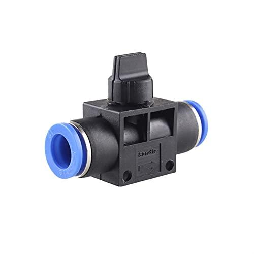 NAWQK 50 unids Accesorios neumáticos Manos válvulas de Ajuste velocidades Controlador de Interruptor de Aire Conector de Tubo de Agua de Aire 4mm 6mm 8mm 10mm 12mm (Color : HVFF, tamaño : 4mm)