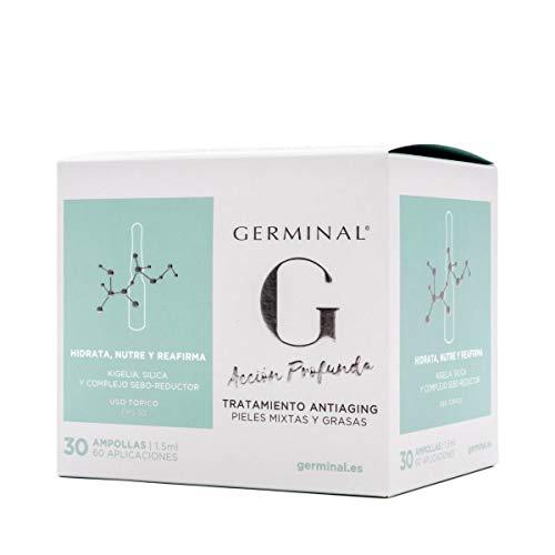 Germinal Acción Profunda Tratamiento Antiaging Pieles Mixtas y Grasas, 30ampollas.