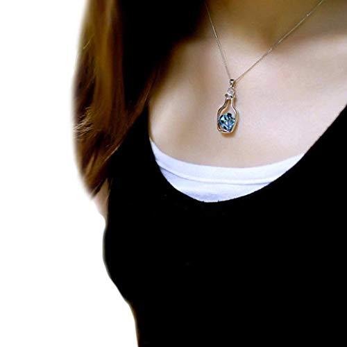 usstore friend necklaces women Usstore Women Girls Creative Love Necklace Fashion Popular Drift Bottle Necklaces DIY Fresh Romantic Living Pendant