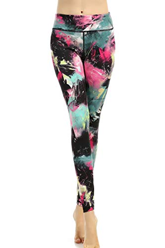 AiJump vrouwen Slim Yoga Leggings Workout Panty Hoge Taille Multi-gekleurde Stretchy Actieve Draag met Verborgen Pocket voor Gym Running Sport Fitness