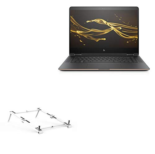 Suporte e suporte BoxWave para HP Spectre X360 [suporte de alumínio de bolso 3 em 1] Portátil, suporte de visualização em vários ângulos para HP Spectre X360 - Prata metálica