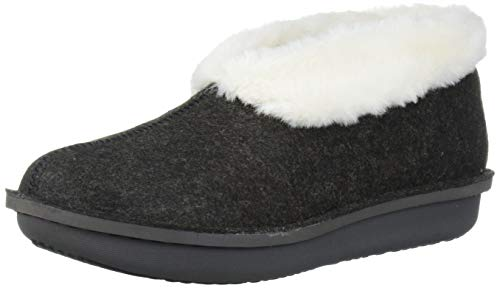 Womens Clarks Step Flow Low Fur Lined Slipper