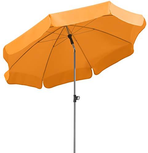 Schneider Sonnenschirm Locarno, mandarine, 200 cm rund, Gestell Stahl, Bespannung Polyester, 2.4 kg