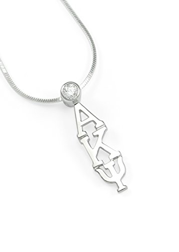The Collegiate Standard Alpha Kappa Psi (AKPsi) Fraternity Lavaliere with Clear CZ Crystal