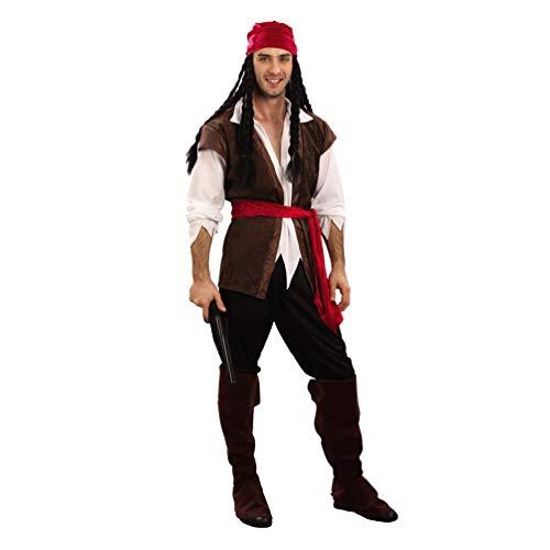Jitong Costume da Pirata, Travestimenti Carnevale Adulti, Halloween Abbigliamento Coppia Divertente (Pirata |Uomini, Taglia Unica)