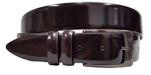 Echt Italiaans Luxe Glanzend Stijlvol Lederen Pak Riem 35mm Breed - Meerdere maten/Verstelbaar
