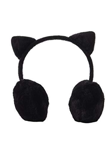 Vertbaudet Ohrenschützer Katze Plüsch Gr. One size, Schwarz