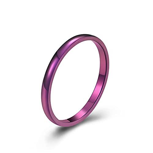 Agobel Fede nuziale, anelli incisi da donna, in acciaio inox argentato, 2 mm, con incisione lucida, V 1/2,