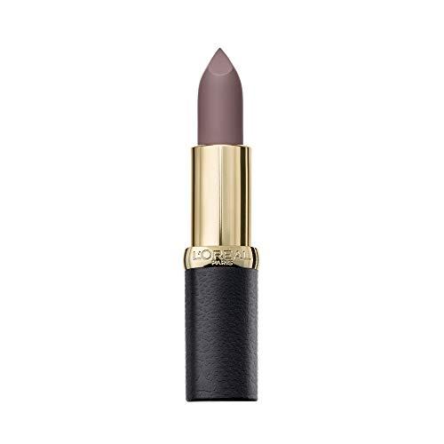 L'Oréal Paris LMU RAL CRMatteNu 908 Storm barra de labios Violeta Mate 4,54 g - Barras de labios (Violeta, Storm, 1 Colores, Hidratante, Mujeres, #8b7174)
