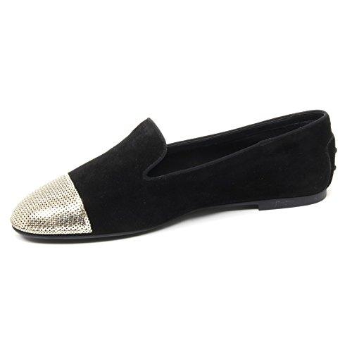 Tod's B4428 Ballerina Donna Scarpa nera/ORO Paillettes Shoe Woman [35.5]