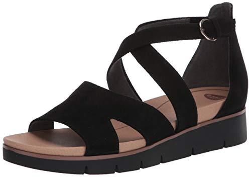 Dr. Scholl's Shoes Women's Good Karma Strappies Sandal, Black, 9
