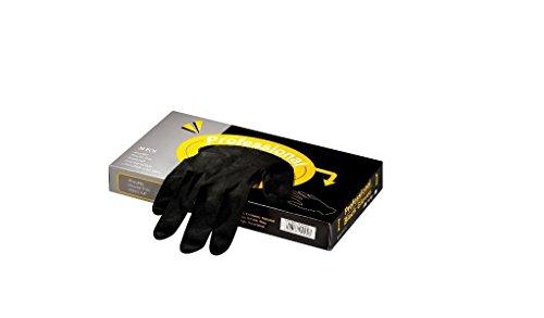 Comair 3011911 Latexhandschuhe klein Professional Gloves, 20 Stück, schwarz
