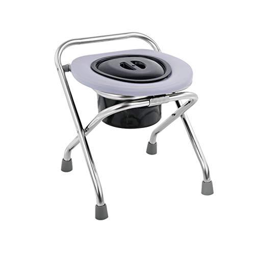 Nuitab nachtkastje commode stoel opvouwbare Potty stoel toilet roestvrij staal oudere patiënt zwanger vrouwen handicaps outdoor activiteit camping douche badkamer grijs