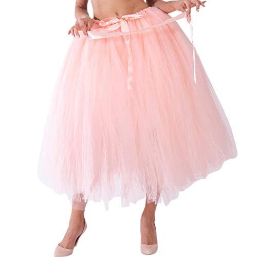 Falda de Tutu Mujer,SHOBDW Malla de Tul En Capas de Dama de Honor Mullido Regalo de La Fiesta de Bodas Traje de Baile de Princesa Falda Burbuja de Maternidad Falda(Naranja)