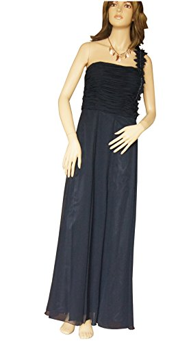 Ashley Brooke Event One Sholder Abendkleid Nachtblau Größe 38