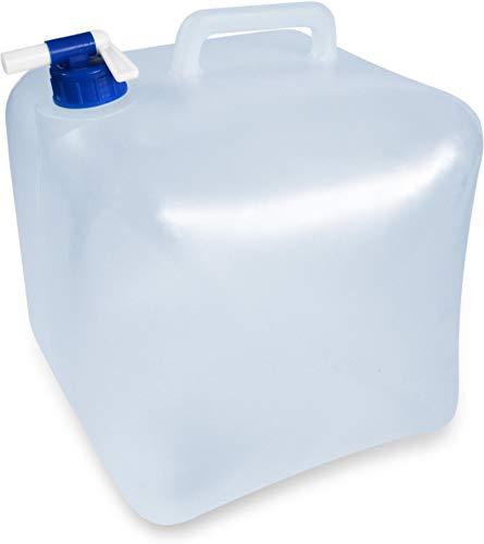 normani Faltbarer Falteimer Wasserkanister mit Hahn in verschiedenen Größen Farbe 5 Liter Größe Transparent