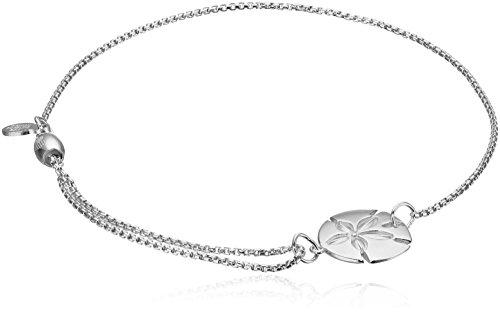 Alex and Ani Pull Chain Bracelet Sand Dollar Sterling Silver Bracelet