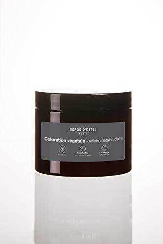 Henné Chatain Clair 200g Coloration Végétale au Henné Reflets Chatain Clairs Fabriqué en France 100% Naturel Non Testé sur les Animaux.