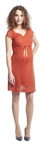 QUEEN MUM vêtements de maternité robe femmes robe élégant robe en dentelle 73164061 - Orange, M