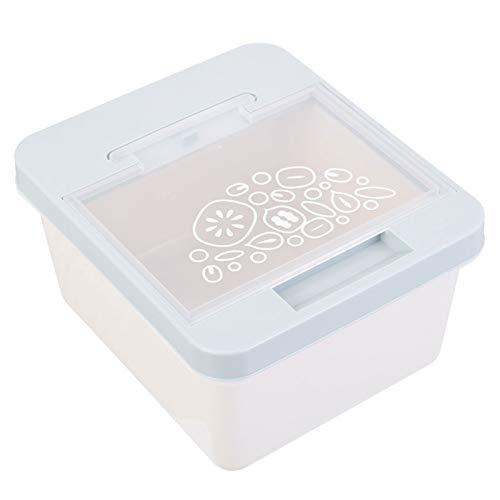 Wsaman Tiernahrungsbehälter, Katzenfutterbox Versiegelte Design Feuchtigkeitsbeständige für Haustiere wie Katzen und Hunde Aufbewahrungsbox Tierfutter,Blau