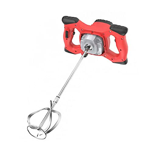 LeuMuas Cemento Hormigón Yeso eléctrica portátil Taladro Herramienta de agitación del Mezclador eléctrico 2100W Mortero Mezclador Rojo1