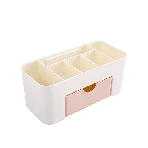 TrifyCore Organisateur de maquillage avec tiroirs grande capacité Table cosmétique Porte-Beauté Organisateur cas bijoux de rangement pour Salle de bain (rose)