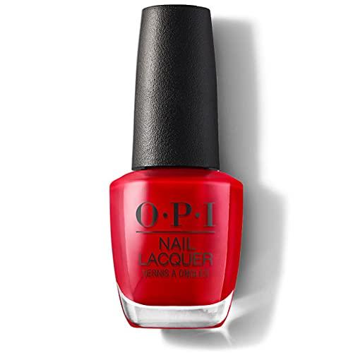 OPI Nail Lacquer Big Apple Red – Nagellack mit bis zu 7 Tagen Halt – langanhaltender Nagellack in leuchtendem Rot – mit extra breitem ProWide Pinsel für perfekte Nägel