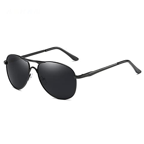 TTWLJJ Gafas de Sol polarizadas Hombre Mujere Retro/Aire Libre Deportes Golf Ciclismo Pesca Senderismo protección UVA Gafas conducción Gafas,Negro