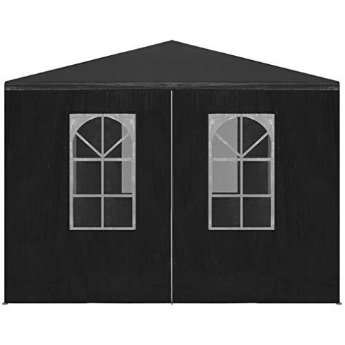 Tidyard 3 x 3 x 2,55 m Stahlrahmen Pavillon Party Hochzeitszelt Baldachin Carport Shelter, UV- und wasserdicht Anthrazit